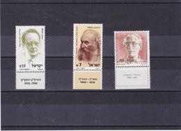 ISRAËL 1984 Yvert 895-897  NEUF** MNH - Israel