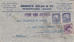 LETTRE. COVER. BRASIL. 1935. POR VIA AEREA. PORTO-ALLEGRE TO LYON FRANCE - Francobolli
