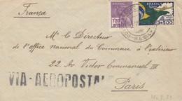 LETTRE. COVER. BRASIL. 1933.  VIA AEROPOSTALE. PORTO TO LPARIS FRANCE - Francobolli