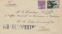 LETTRE. COVER. BRASIL. 1933.  VIA AEROPOSTALE. PORTO TO LPARIS FRANCE - Non Classés