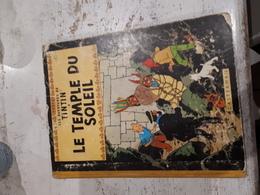 TINTIN ET LE TEMPLE DU SOLEIL -PLAT B35 1963-ETAT MOYEN - Tintin