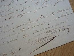 Marius AUDRAN (1816-1887) Chanteur TENOR. Opera Comique. Conservatoire MARSEILLE. AUTOGRAPHE - Autographes