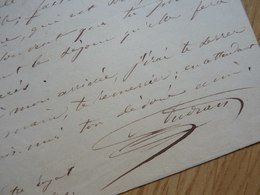 Marius AUDRAN (1816-1887) Chanteur TENOR. Opera Comique. Conservatoire MARSEILLE. AUTOGRAPHE - Autógrafos