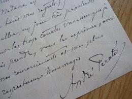André PERATE (1862-1947) HISTORIEN - Directeur CHATEAU DE VERSAILLES - Autographe - Autographs