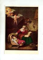 Carte Tableau Rembrandt Sainte Famille Cachet Saint Louis Sur Brayer Pont Neuf - Peintures & Tableaux