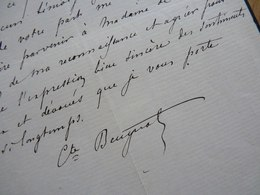 COMTE Arthur BEUGNOT (1797-1865) PAIR De FRANCE. Haute Marne CHAUMONT. ACADEMIE Belles Lettres. AUTOGRAPHE - Autógrafos