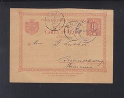 Romania Reply Card 1894 Braila-Docuri - Ganzsachen