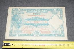 Loterie Coloniale 1937,Congo Belge,Colonie Du Congo,50 Fr. - Billets De Loterie