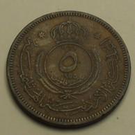1955 - Jordanie - Jordan - 1374 - 5 FILS - KM 9 - Jordanie