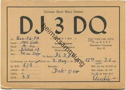 QSL - Funkkarte - DJ3DQ - Hamm-Heesen - 1958 - Amateurfunk