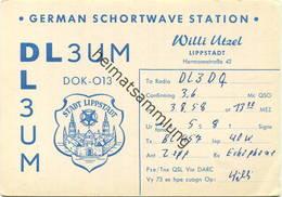 QSL - Funkkarte - DL3UM - Lippstadt - 1958 - Amateurfunk