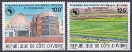 Elfenbeinküste Ivory Coast Cote D'Ivoire 1985 Organisationen Entwicklung Developement Wirtschaft Chemie, Mi. 857-8 ** - Côte D'Ivoire (1960-...)