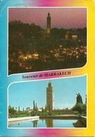 Marrakech (Maroc, Marocco) Panorami Notturno E Diurno, Views, Vues - Marrakech