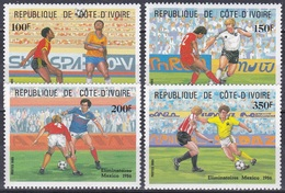 Elfenbeinküste Ivory Coast Cote D'Ivoire 1985 Sport Fußball Football Soccer Mexiko Mexico, Mi. 867-0 ** - Côte D'Ivoire (1960-...)