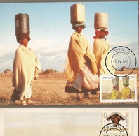 Transkei & Maxi Card, Water From The River, Xhosa Culture, Umtata 1982 (137) - Transkei