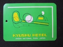 HOTEL MOTOR HOSTEL LODGE INN GOLF PARK KYUSHU UNZEN TOKYO JAPAN LUGGAGE LABEL ETIQUETTE KOFFERAUFKLEBER DECAL STICKER - Hotel Labels