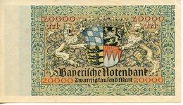 ALLEMAGNE. BILLET DE 20 000 MARK MÜNCHEN 1923 - [ 3] 1918-1933: Weimarrepubliek