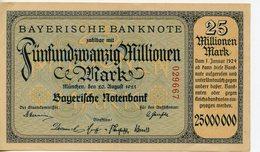 ALLEMAGNE. BILLET DE 25 MILLIONEN MARK MÜNCHEN 1923 - [ 3] 1918-1933 : République De Weimar
