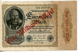 ALLEMAGNE. BILLET DE 1000 MARK SURCHARGE EINE MILLIARDE MARK BERLIN 1922 - [ 3] 1918-1933: Weimarrepubliek