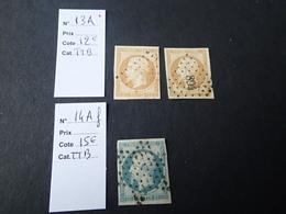 YT N° 13A Et 14Af Cote 39€. - France