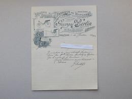 CHATEAU-THIERRY: Lettre à En-tête 1902 Fabrique De Voitures Sellerie Carrosserie BERTIN - Rue Des Filoirs - 1900 – 1949