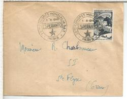 FRANCIA PARIS 1949 MAT CONGRESO ESPERANTO IDIOMA - Esperánto