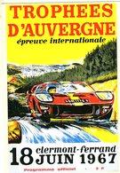 Trophees D'Auvergne  à  Clermont-Ferrand  1967      -  Publicité  -  CPR - Grand Prix / F1