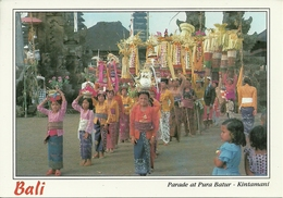 Bali (Indonesia) Parade At Pura Batur - Kintamani - Indonesia