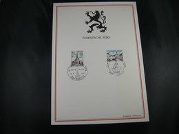 """BELG.1972 1636 & 1637 FDC Filatelia Card / """"Toeristische Uitgifte- Emission Touristique"""" - Erinnerungskarten"""
