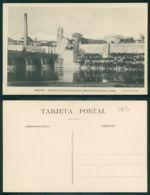 OF [17831] - ESPAÑA - MERIDA - DETALLE DEL PUENTE ROMANO Y MURALLA DEL ACAZAR ARABE - Mérida