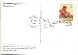 ESTADOS UNIDOS USA ENTERO POSTAL CANOE KAYAK REMO ROWING CANOA - Rowing