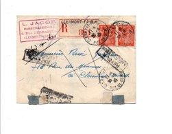 IRIS SUR PLI RECOMMANDE DE CLERMONT FERRAND 1945 - Marcophilie (Lettres)