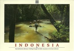 "East Kalimantan (Borneo, Indonesia) Trekking Through The Muller Mountains, Thematic Stamp ""Bulutangkis Atlanta 1996"" - Indonesia"