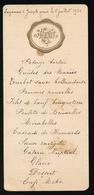 MENU 1921 UITNODIGING AAN ADEL NOBLESSE - MONSIEUR J. DE MAEGHT   18 X 8 CM - Menus