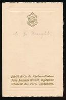 MENU MELLE 1930 UITNODIGING AAN ADEL NOBLESSE - M.DE MAEGHT   16 X 10 CM  2 SCANS - Menus