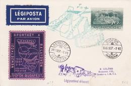 Carte Légiposta Budapest Siofok 1936 - Poste Aérienne