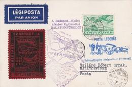 Carte Légiposta Budapest Siofok  Balatonfured 1936 - Poste Aérienne