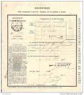 INDRE ET LOIRE 37 -RECEPISSE BACCALAURAT COMPLET + TIMBRE QUITTANCE 25C MEDAILLON TASSET TOURS 1892 - Fiscaux
