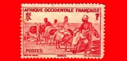 SENEGAL - AFRICA Occidentale Francese - Usato - 1947 - Trasporti A Schiena D'asino - 1 - Gebruikt
