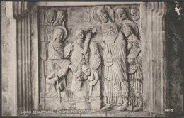 Saxon Sculptures, Chichester Cathedral, Sussex, 1928 - W H Barrett Postcard - Chichester