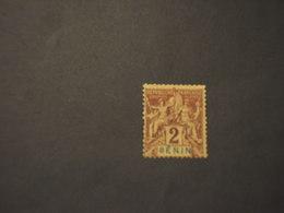 BENIN - 1894 ALLEGORIA  2 C. - TIMBRATO/USEDCIFRA - Benin (1892-1894)