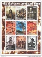 Foglietto Francobolli - The Battle Of Little Big Horn - American Indians