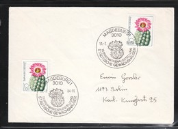 DDR 1983, Brief Mit SStpl. + 2xMiNr. 2803 (Kaktus)  / GDR 1983, Cover With Spec. Cancellation + 2xMiNr. 2803 (cactus) - Sukkulenten