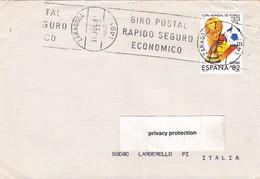 SPAGNA STORIA POSTALE VIAGGIATA - Spagna