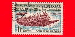 SENEGAL - Usato - 1961 - Sport - Canoa - Navi - Corsa Delle Pirogues -  1 - Senegal (1960-...)