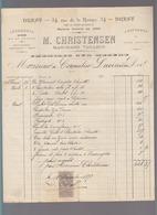 Brest - Christensen Marchand Tailleur Uniformes - Facture équipement D'un élève école Navale - 1800 – 1899