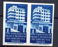 Pareja De Sellos Patronato Viudas Y Huerfanas Del Ejercito Y La Armada 1pta - España
