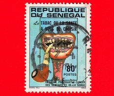 SENEGAL - Usato - 1981 - Tabacco - Campagna Anti Fumo - Anti-smoking Campaign - 80 - Senegal (1960-...)