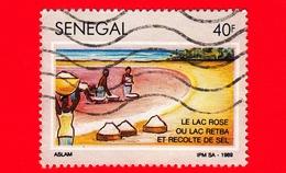 SENEGAL - Usato - 1990 - Attrazioni Turistiche - Raccolta Del Sale Al Lago Retba - 40 - Senegal (1960-...)
