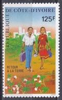 Elfenbeinküste Ivory Coast Cote D'Ivoire 1985 Gesellschaft Society Soziales Rückkehr Auf Das Land, Mi. 885 ** - Côte D'Ivoire (1960-...)
